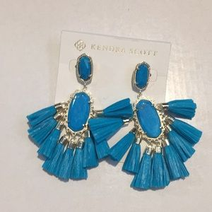 Kendra Scott Kristen earrings aqua howlite